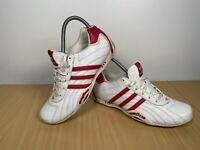 Team Adidas Goodyear Trainers White With Pale Pink Stripes Size UK 5.5