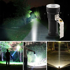 LED  Power Work Spot Light Camping Hand Flash Lamp Rechargeable Torch UK