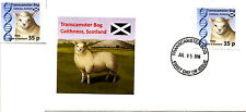Transcamster Bog, Scotland: Dolly the Sheep mint stamp + first day cover