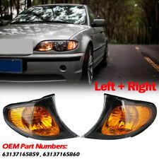 Pair Sedan Wagon Amber Park Turn Signal Corner Lights For BMW 3 Series E46 02-05