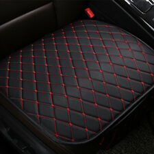 Auto Car PU Leather Front Seat Cover Cushion Black+Red Line Chair Accessories X1