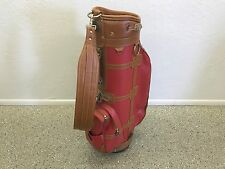 NICE Daiwa Golf COACH COLLECTION Womens GOLF BAG Brown RED Faux Leather CLEAN