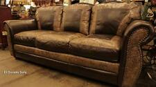 United Leather El Dorado Handmade 100% Top Grain Leather Sofa Made in USA Texas
