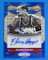2014 PANINI PRIZM BLUE SIGNED ELVIN HAYES BASKETBALL CARD #63 ~ 15/249