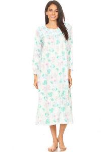 670 Womens Nightgown Sleepwear Pajamas Woman Long Sleeve Sleep Dress Nightshirt