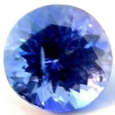 NATURAL ROUND-CUT AWESOME BLUE TANZANITE CLEAN LOOSE GEMSTONES 8.1 x 4.1 mm.