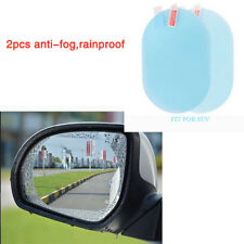 2x Oval Car Rearview Mirror Film Anti-Fog Membrane Waterproof Mirror Rainproof