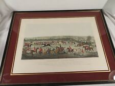 Antique 1830 Alken Hand Colored Engraving Etching ~ Extraordinary Steeple Chase