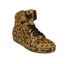 Ralph Lauren Purple Label Siana Leopard Haircalf Sneakers Shoes New