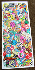 VW STICKER BOMB LARGE SHEET VOLKSWAGEN BEETLE SPLIT BAY CAMPER GOLF POLO T5 LUPO