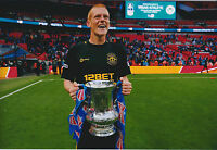 Ben WATSON SIGNED Autograph 12x8 Photo AFTAL COA Wigan Athletic FA Cup Winners