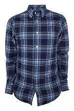GANT Men's Marine Telltail Madras Check Shirt 347432 Medium $125 NWT
