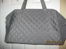 DSW Grey Quilted bag, purse, tote, suitcase, carry on bag.