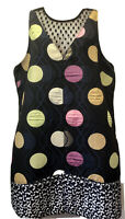 NEW Anthropologie Maeve Women's Sz L Black/Multicolor Sleeveless Sheath Dress