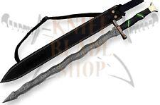Damascus steel KRIS blade Sword,Handmade SWORD BLACK MICARTA HANDLE