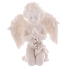 Praying Cherub Figurine Jewelled Silver Cross Decorative Angel Ornament 7.5cm