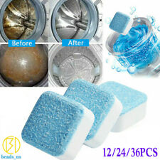 12/24/36PCS Washing Machine Effervescent Tablet Cleaning Tablet Washer Cleaner