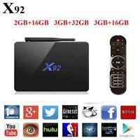 Android X92 4K HD Smart TV Box  Amlogic S912 Octa Core 5G Wifi BT4.0 Media Playe