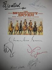 The Magnificent Seven Signed Film Script Steve McQueen Charles Bronson Coburn RP