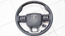 STEERING WHEEL TOYOTA TRD NEW FORTUNER 2015-17 GENUINE CARBON - PADDLE SHIFTERS