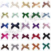 7mm Mini Satin Ribbon Bows 10pk 30pk 50pk or 100pk 26 Colours Free UK Post