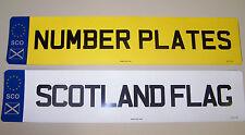 NUMBER PLATES SCOTTISH BADGE 1 FRONT OR REAR REGISTRATION PLATE FREE POST