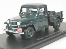 Willys Jeep Camioncino scoperto 1954 Verde - Cornice Legno 1/43 Neo 45804 NUOVO
