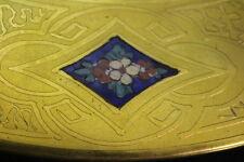 "12 Gold Encrusted Blue Enamel Porcelain THOMAS BAVARIA 11"" Dinner Service Plates"