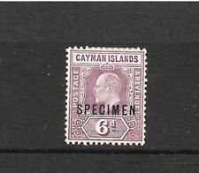 CAYMAN ISLANDS 1907-09  6d  KEVII  MLH  SPECIMEN    SG 30s
