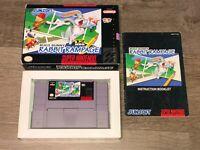 Bugs Bunny Rabbit Rampage Super Nintendo Snes Complete CIB Authentic