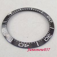 Solid 38mm Black Ceramic Bezel Ring Insert for 40mm Men's Watch Luminous Dot