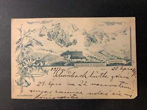 Italy / Italia - mountain Bolzano / Bozen PPC Postcard (1895)