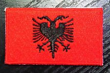 ALBANIA Albanian Country Flag Embroidered PATCH Badge *NEW*