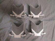 "LOT of 4 Aluminum Heatsink Heat Sink Cooling Radiator 4 1/2"" X 4"" X 2"""