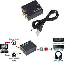 Óptica Coaxial Digital a Analogico Adaptador Conversor de Audio L/R RCA + Cable