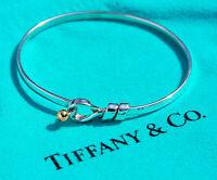 Tiffany & Co 18Ct 18K Yellow Gold Sterling Silver Hook Bracelet Bangle