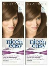 2 x Clairol Nice'N Easy 76 Light Golden Brown Non permanent No peroxide