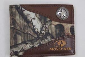 ZEP PRO Western TEXAS STAR Mossy Oak Camo  Bifold Wallet Tin Gift Box