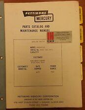 Pettibone Mercury Parts & Maintenacne Manual, Model: A460HGT-26, SN:74767-74771