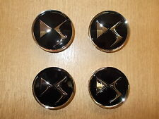 GENUINE CITROEN DS3 DS4 DS5 BLACK ALLOY WHEEL CAP CENTRE SET 1609953780