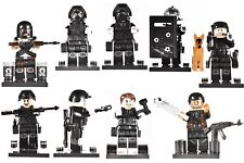 SET 8PCS The modern military SWAT salon Female police force Lego Toys Custom