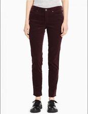Calvin Klein Women's Velvet Ultimate Skinny Jeans, Classic Plum, 10x32, NWOT