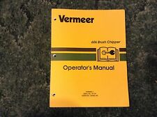105400-J45 - A New Operator's Manual for a Vermeer 606 Brush Chipper