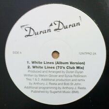 "Duran Duran White Lines Uk 4 mixes Uk Dj 12"" Rare"
