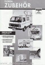 VW LT - Prospekt Preisliste - Florida Westfalia Zubehör - 08/95
