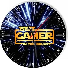 Best Gamer in the Star Galaxy Wars Space Kitchen Living room Wall Clock