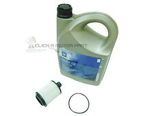 VAUXHALL INSIGNIA 2.0 CDTi ENGINE OIL FILTER + 5LT OIL 5W30 LONGLIFE SERVICE KIT