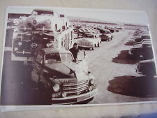 1951 STUDEBAKER CARS AN TRUCKS ON CAR CARRIER 11 X 17  PHOTO /  PICTURE