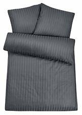 Carpe Sonno Damast Bettwäsche-Set 135x200cm + Kopfkissen 2tlg Grau Baumwolle