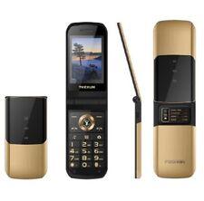TKEXUN Flip Mobile Phone Touch SOS Dual Sim Metal Body Magic Voice Cellphone